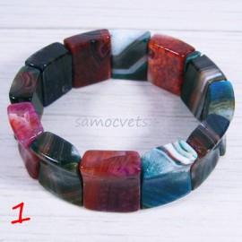 Браслет Агат Разноцветный