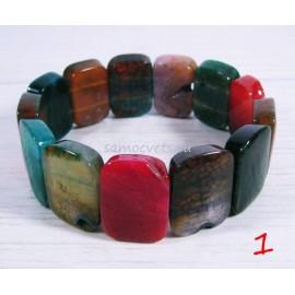 Агатовый натуральный браслет (уценённый)