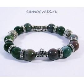 Браслет Зелёная Яшма в стиле Pandora