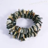 Перламутр - ракушка Браслет спиралька 2 витка крупная галтовка