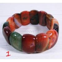Браслет из разноцветных агатов - Уценённый