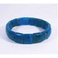 Браслет натуральный синий апатит огран.