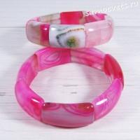 Браслет из розового агата Амуре