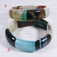 Браслет разноцветный агат - Амуре