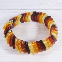 Браслет имитация янтаря - разноцветный