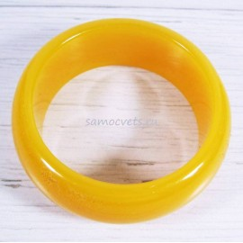 Браслет обруч имитация янтаря матово - жёлтый