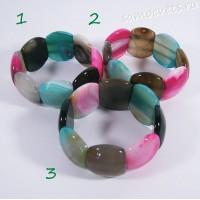 Браслет из разноцветного агата - Суюнгель