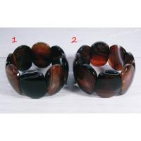 Браслет чёрно - коричневый агат Суюнгель 2
