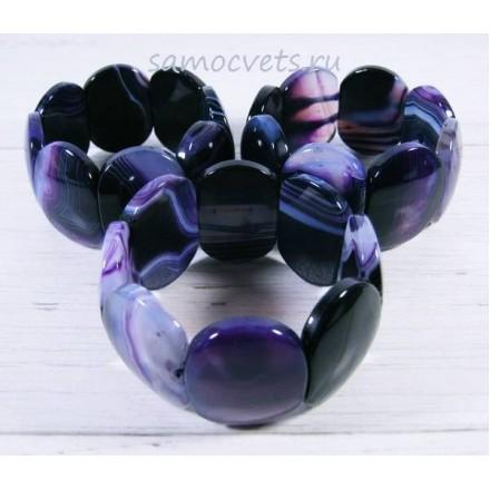 Браслет из Агата Суюнгель - Фиолетовый
