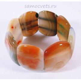 Браслет Серо - Оранжевый Агат Суюнгель