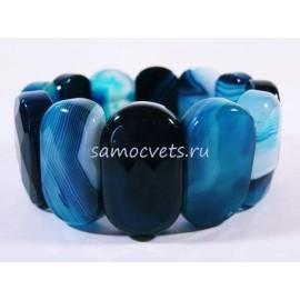 Браслет Синий Агат Царевна