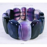 Браслет Фиолетовый Агат Царевна