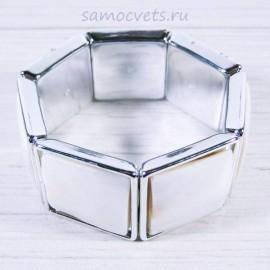 Браслет из Белого Перламутра Миледи квадраты 30 мм