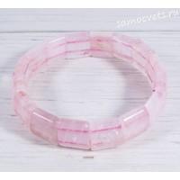 Браслет розовый кварц тонкий Алсу