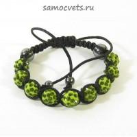 Браслет c Кристаллами Шамбала Зелёный 1