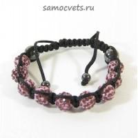 Браслет c Кристаллами Шамбала Розовый