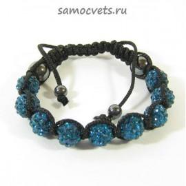 Браслет c Кристаллами Шамбала Синий 1