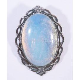 Брошь Кабошон 20*30 мм Лунный камень искусств.