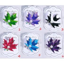 Брошь кристаллы листопад - 1