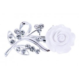Брошка Белая роза