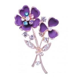 Брошь Фиолетовый цветок