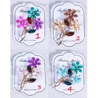 Брошка Кристаллы Сказочный цветок