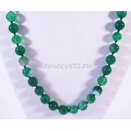 Бусики из Зелёного Агата шар 8 мм