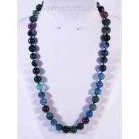 Бусы Агат Сине - Фиолетовые шар 10 мм