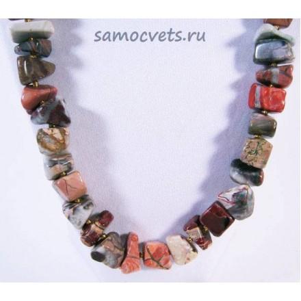 """Бусы из Уральской Яшмы """"Натюрэль"""""""