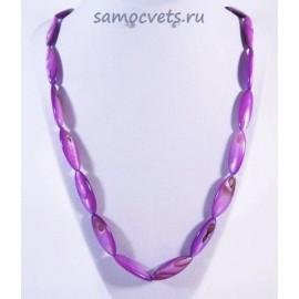 Бусы Перламутр Сокровища океана - Фиолетовые
