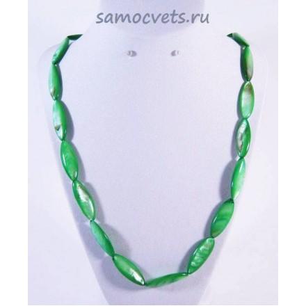 Бусы Перламутр Сокровища океана - Зелёные