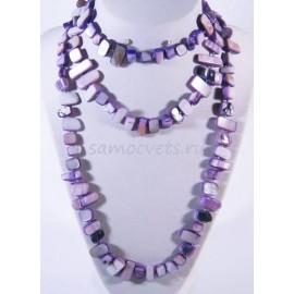 Бусы из Перламутра Естество Фиолетовые