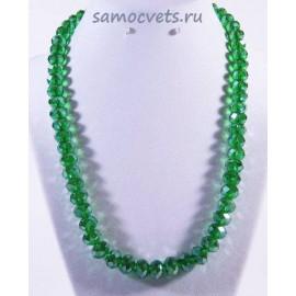 Хрустальные бусы Классика - 10 Зелёные с напылением