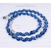 Бусы из Циркона синие (цвет сапфир)