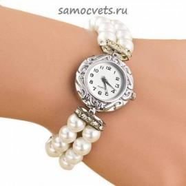 Женские Часы - Браслет на резинке Майорка Белые