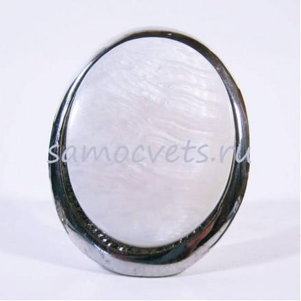 белый перламутр кольцо - Овал