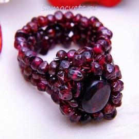 Большой плетённый перстень из Граната