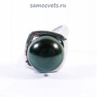 Кольцо Жемчужина 12 мм Чёрный Жемчуг