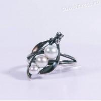 Кольцо з жемчужины Белый Жемчуг