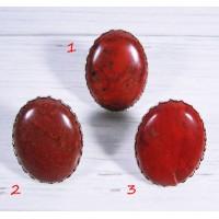 Большой перстень Красная Яшма 30*40 мм - 2