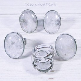 Горный хрусталь кольцо крупное