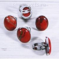 Большое кольца с красной яшмой