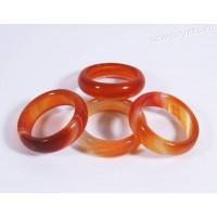Кольцо из камня сердолика (оранжевый агат) 5 мм
