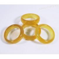 Кольцо из камня жёлтый агат 5 мм