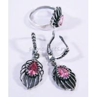 Комплект Розовый Фианит - Яфрак