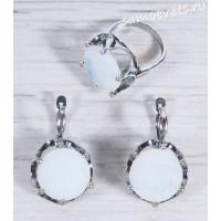 Комплект кристалл (под лунный камень) круг