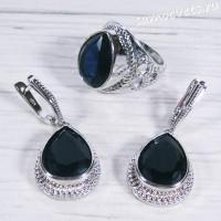 Комплект с синий кристалл (цвет Сапфир) - Айнур