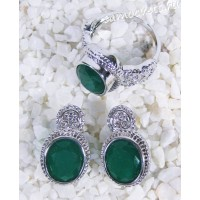 Комплект зелёные кристаллы (под изумруд) - Айнур