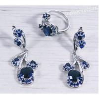 Комплект с синими кристаллами - Гулия