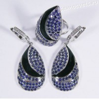 Комплект синие кристаллы - Чулпан